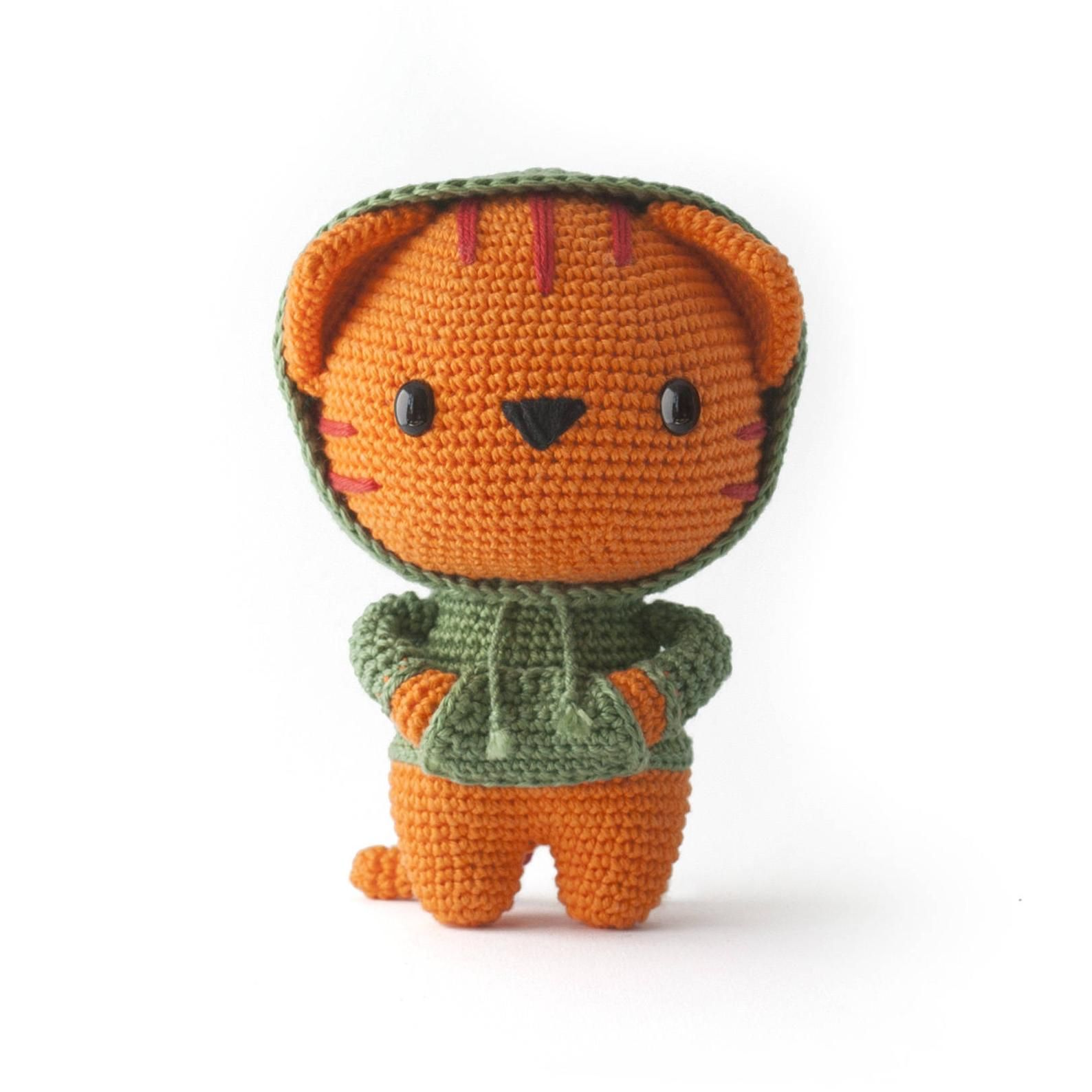 Milo the Hipster Cat Amigurumi pdf toy crochet pattern - DIY Fluffies #dogcrochetedsweaters