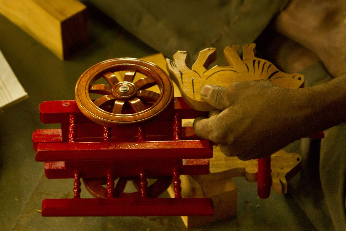 all wooden parts are fixednailing. | wooden toys