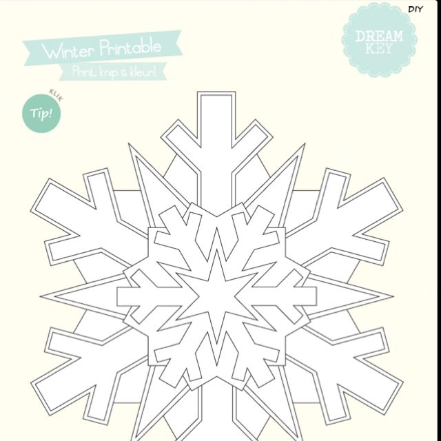 DIY sneeuwvlok van Dreamkeydesign uit Hip & Hot Magazine op de iPad