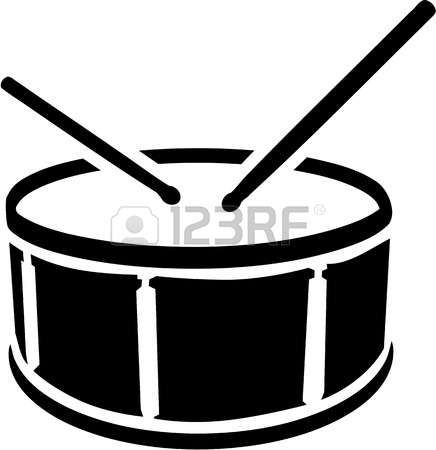 Silhouette Drum Drum Symbol With Sticks Snare Drum Marching Band