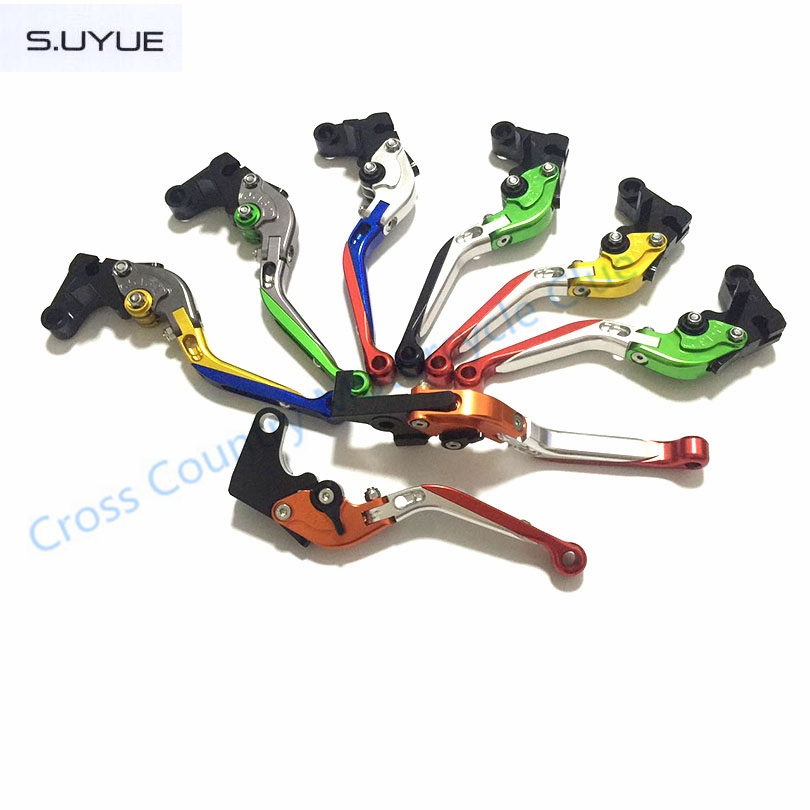 31.19$  Watch here - http://aliyia.shopchina.info/go.php?t=32734973449 - S.UYUE Motorcycle Accessories Adjustable Folding Extendable Brake Clutch Levers for Kawasaki ZX-6 W800/SE NINJA 650R VERSYS  31.19$ #buyonline