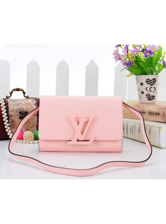 4875cdff3eed8 Louis Vuitton Knockoff Epi Leather Pastel PM Clutch Bag Pink 41102 ...