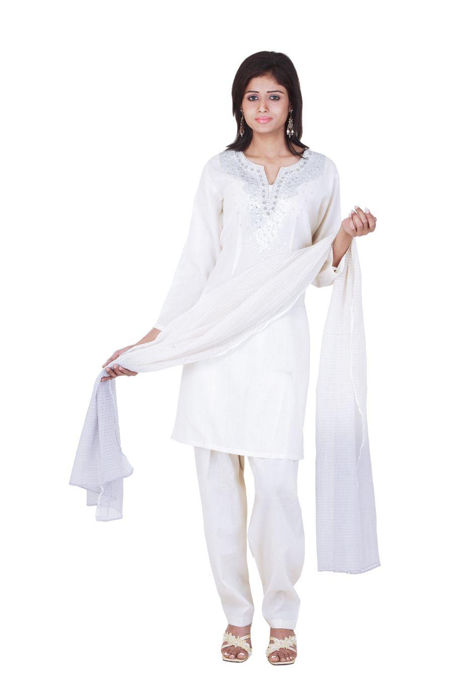 white churidar suit for women - Google Search | Wedding ...