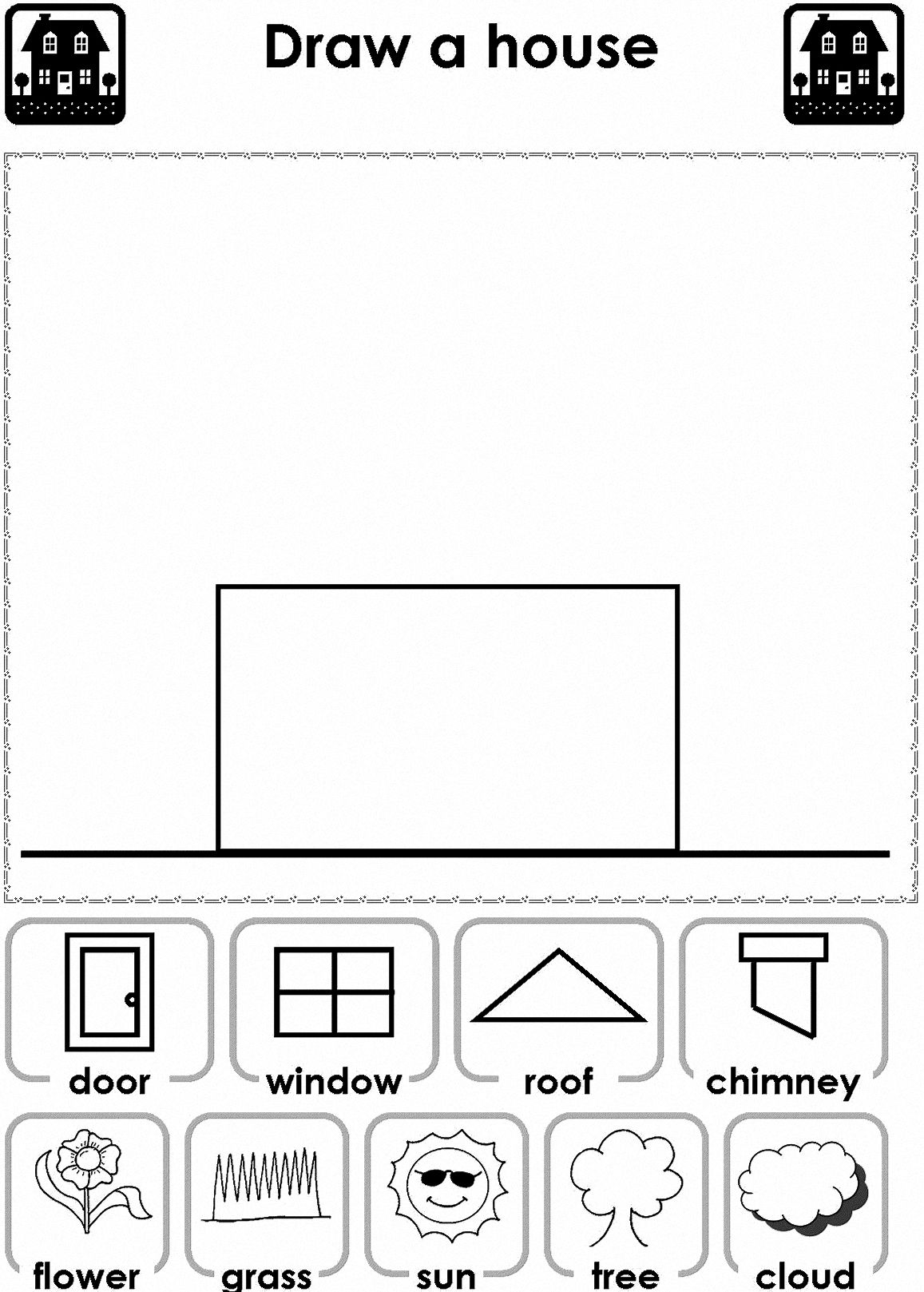 Stick Figure Preschool Worksheet