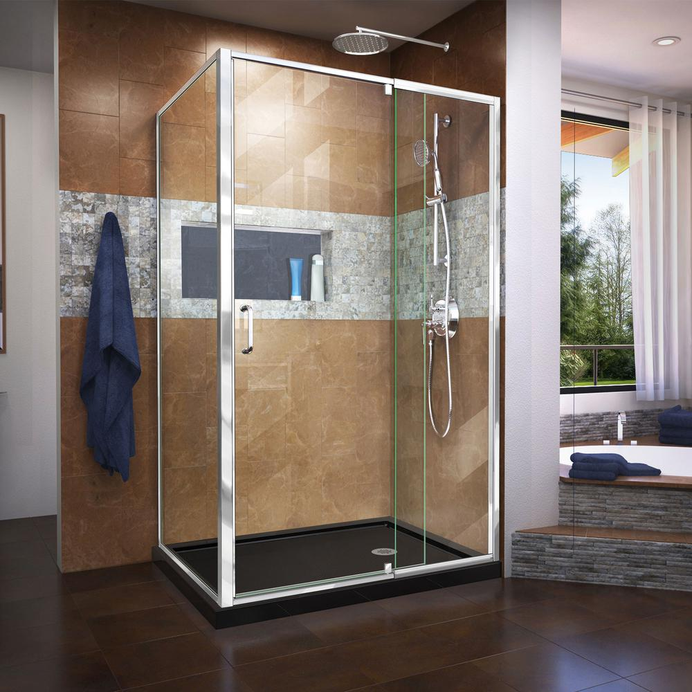 Dreamline Flex 36 In D X 48 In W X 74 75 In Framed Pivot Shower