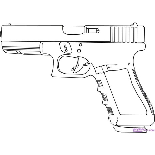 how to draw a gun liked on polyvore
