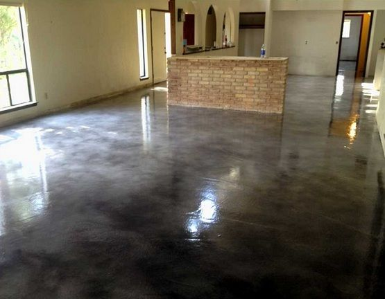 Painting Concrete Floors With Black Gloss Paint Grdient