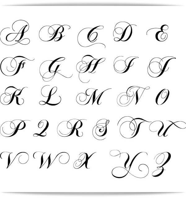 Abecedario Hermoso Para Tatuajes Imagenes De Letras Tatuajes Letras Cursivas Letras Para Tatuajes