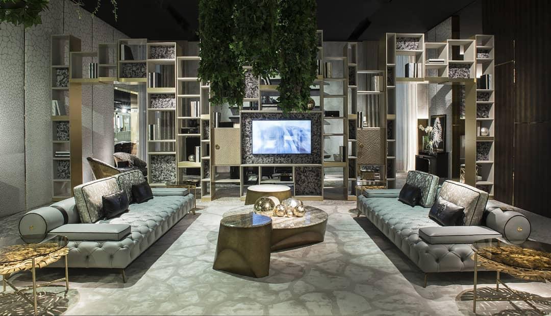 Living room designed by Roberto Cavalli Home Interiors ...