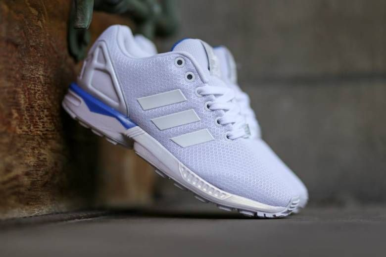 timeless design e3441 7d2ef adidas Originals ZX Flux White/White/Bluebird | sneakers ...