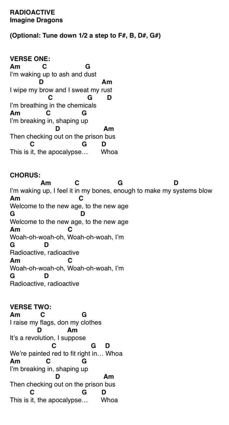 Radioactive Part One In 2020 Ukelele Chords Ukulele Songs
