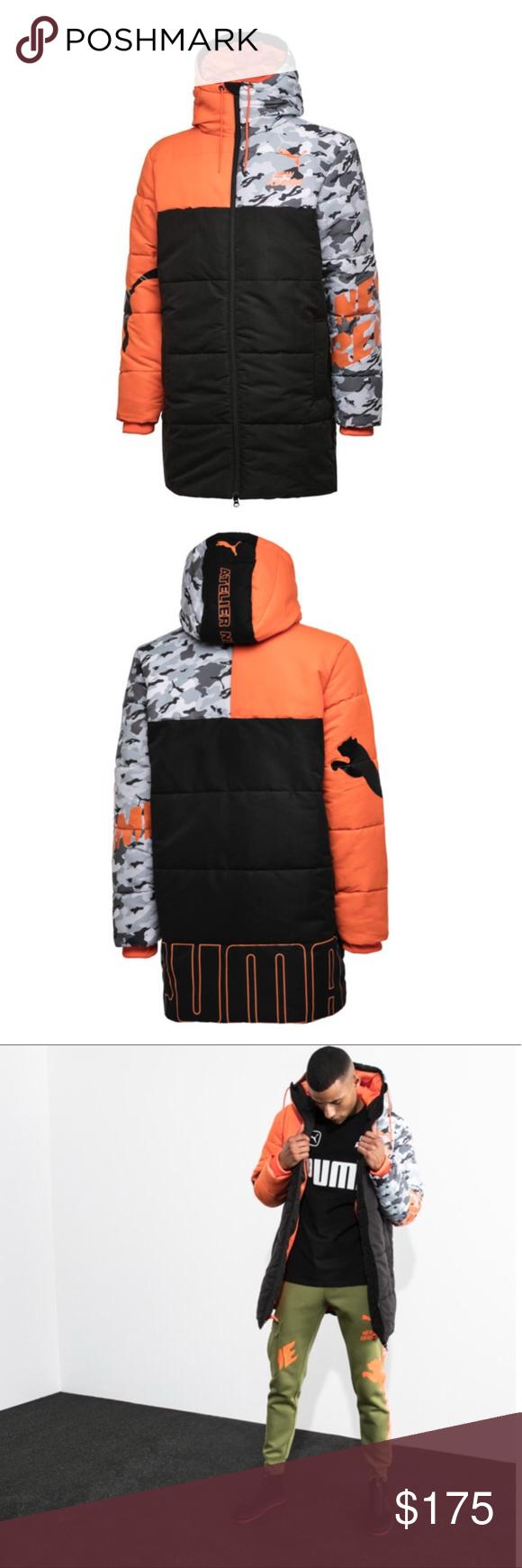 Nwt Puma X Atelier New Regime Camo Hooded Jacket Jacket Brands Clothes Design Puma X [ 1740 x 580 Pixel ]