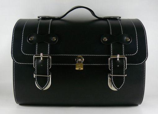 2e5f34808e798 Leather Top Case Roll Bag Piaggio Vespa Scooter