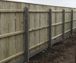 Recessed Concrete Fence Post Intermediate Wooden Fence Concrete Fence Posts Garden Fence Panels