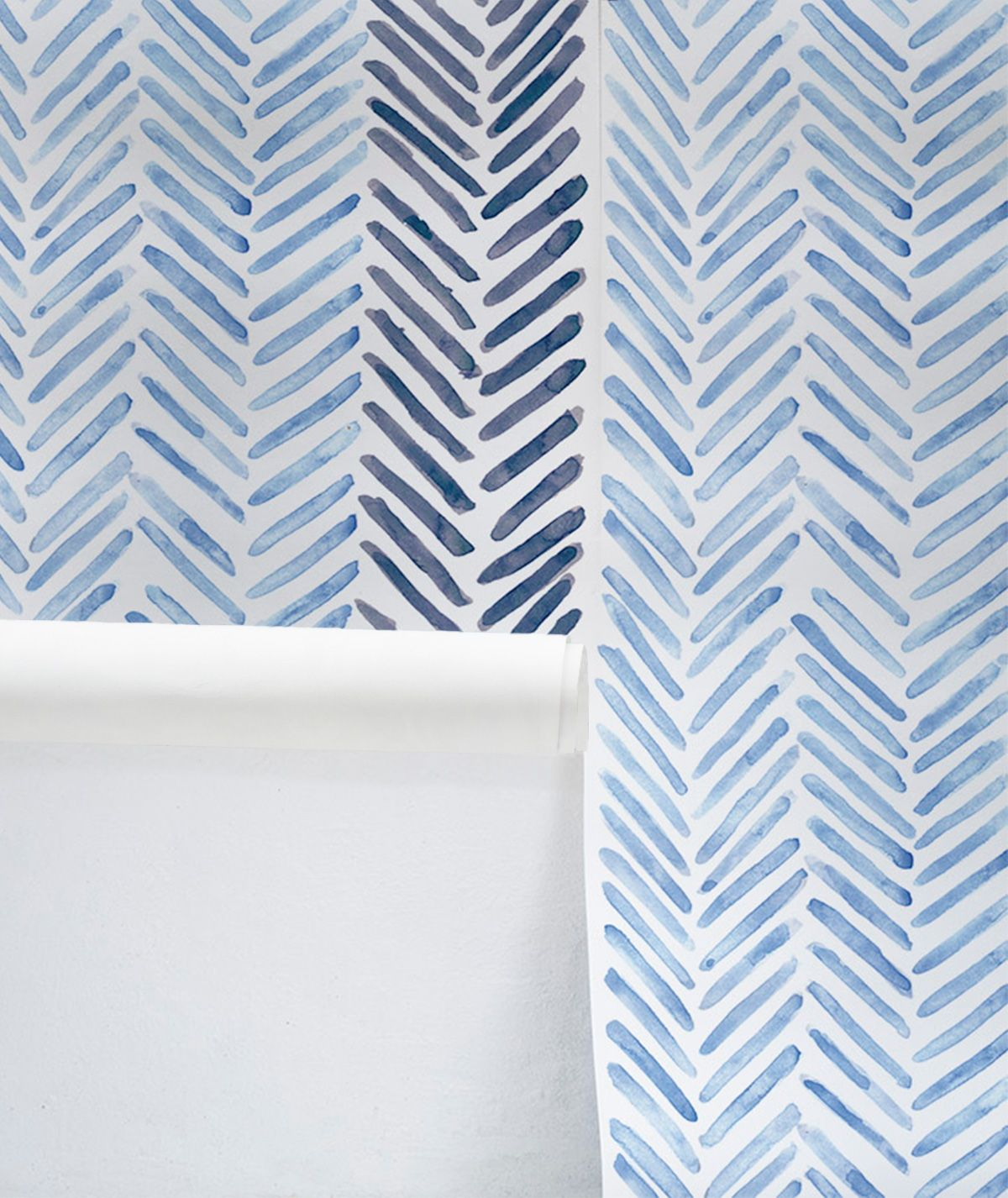 Herringbone Wallpaper Cobalt In 2021 Herringbone Wallpaper Striped Wallpaper Wallpaper