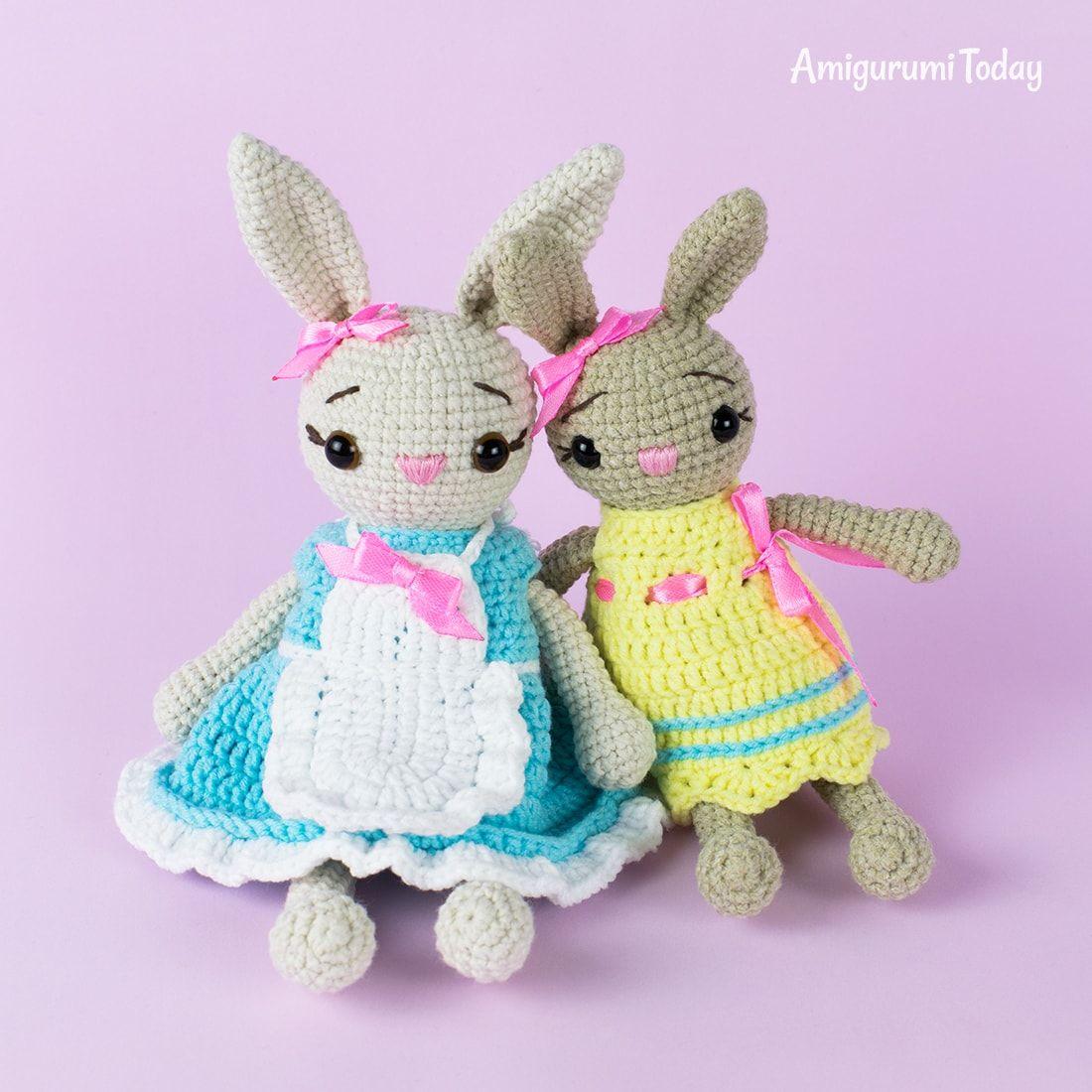 Sunny Bunny crochet pattern - Amigurumi Today | 1100x1100