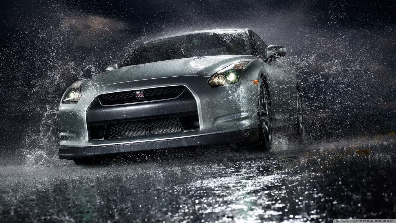 Beautiful Cars Front Angle View Nissan GT R Vehicles Water Free IPhone Or Android  Full HD Wallpaper. Design