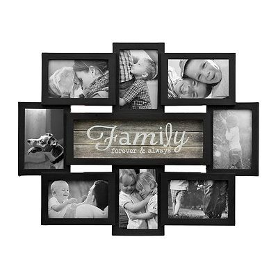 Family Forever 4x6 Collage Frame Family Collage Frame Candle Wall Decor Collage Frames