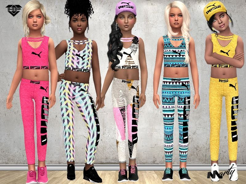 Puma Outfit For Child Girls Found In Tsr Category Sims 4