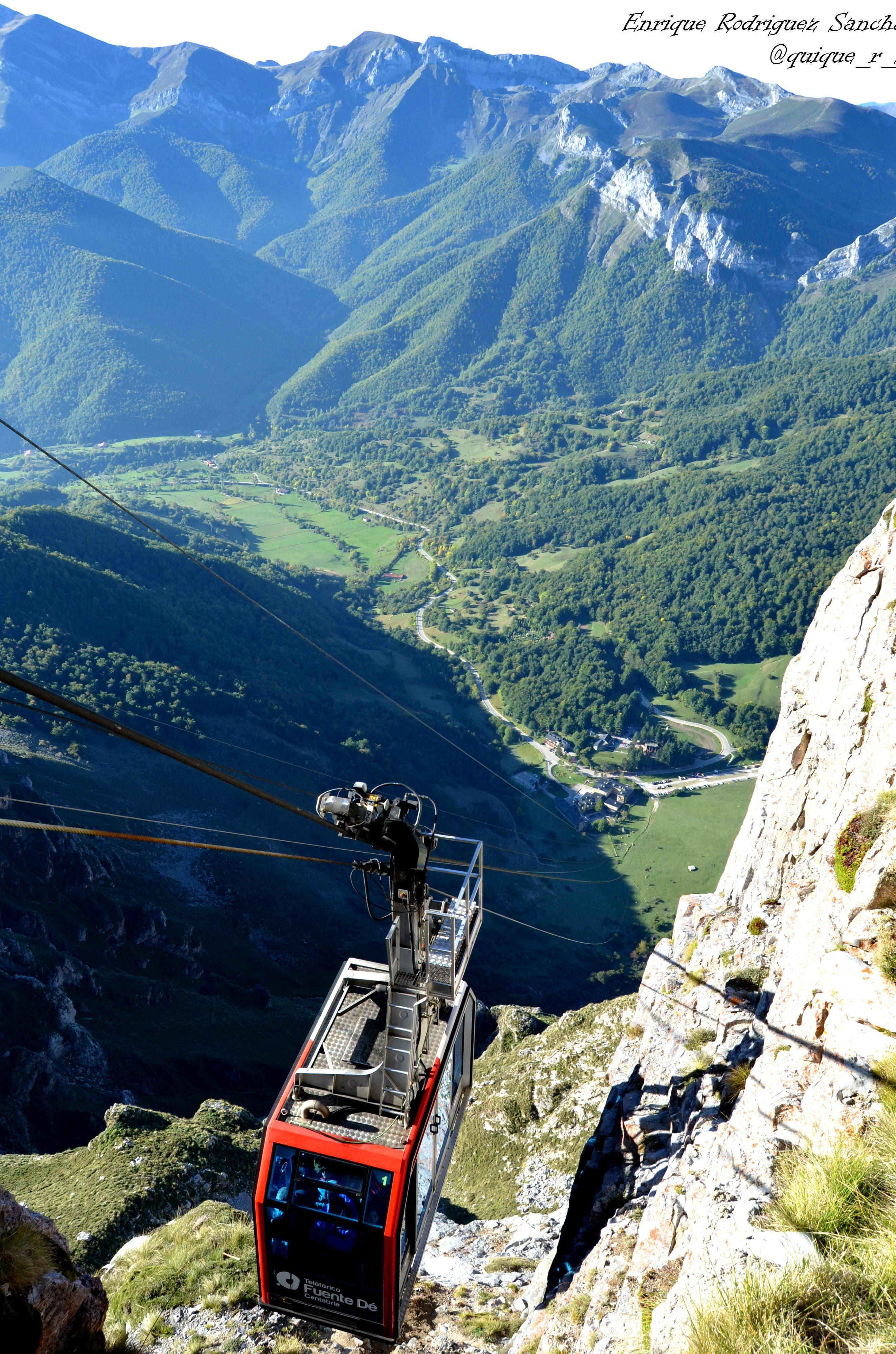 Los valles Lebaniegos desde el mirador del Cable