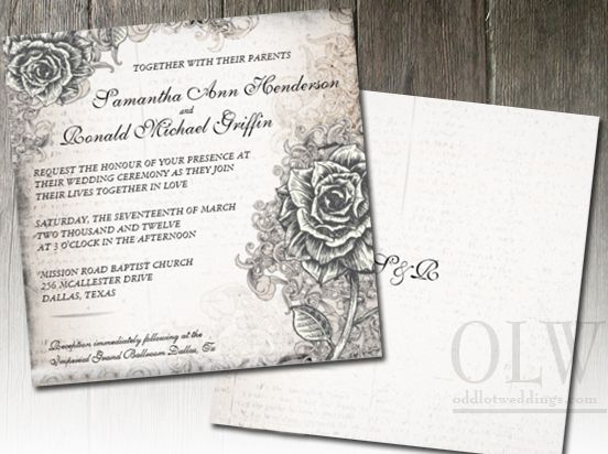 Victorian Wedding Invitations With Ealing Earance For Invitation Design Ideas 12