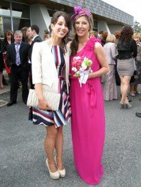 Gillian looks stunning at a family wedding in March 2012 in our very popular closet swing matched perfectly with nude clutch and high shoes .. Again all from Highstyle Virginia