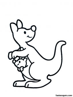 Free Printable Animal Kangaroo With Baby Coloring Pages For Kids Print Out Baby Kangaroo Animal Coloring Pages Zoo Animal Coloring Pages Easy Animal Drawings