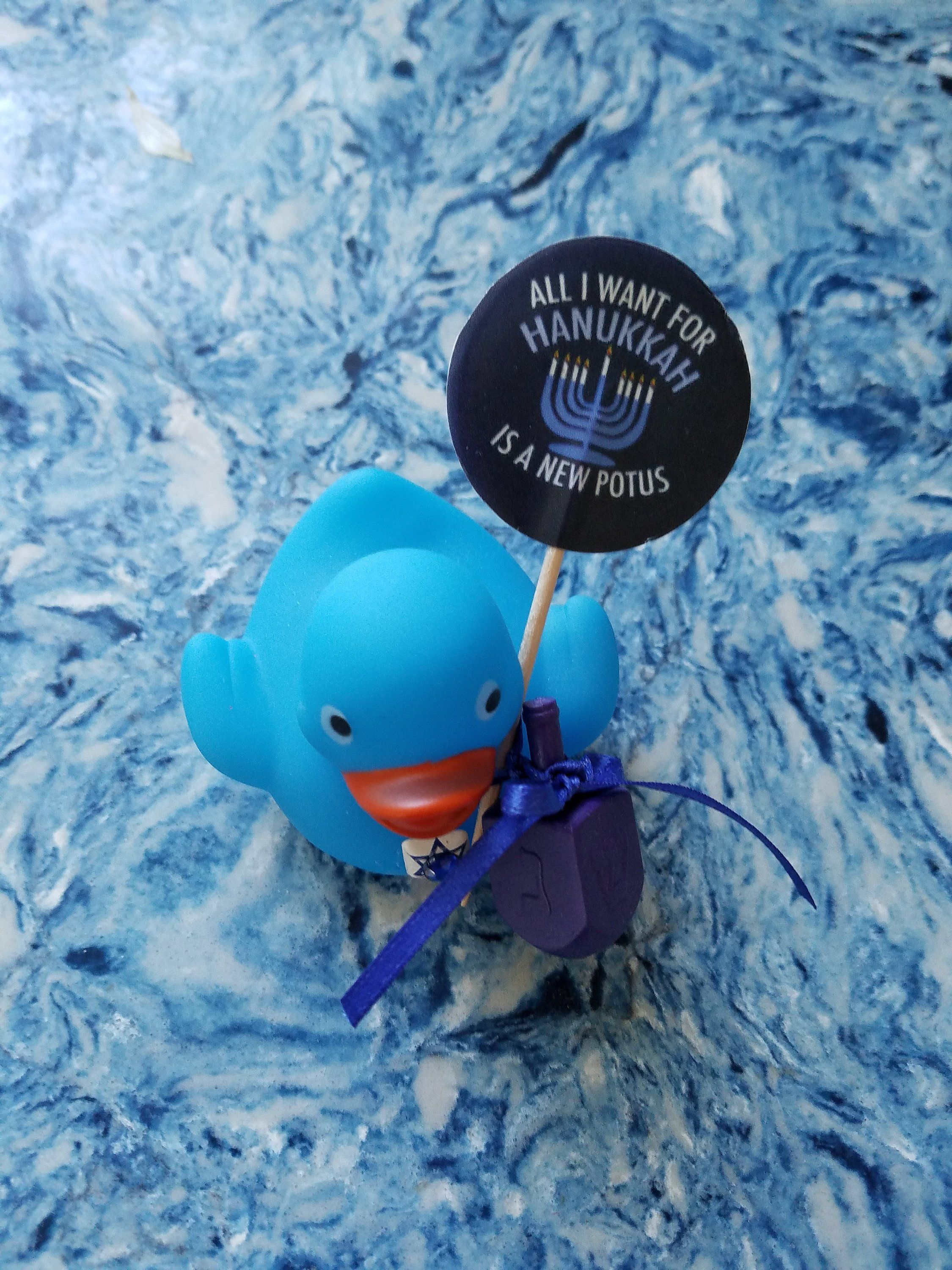Hanukkah Ducky All I Want For Hanukkah Is A New Potus Blue Rubber Ducky Chanukah By Chelliescollectibles On Etsy In 2020 Rubber Ducky Hanukkah Ducky