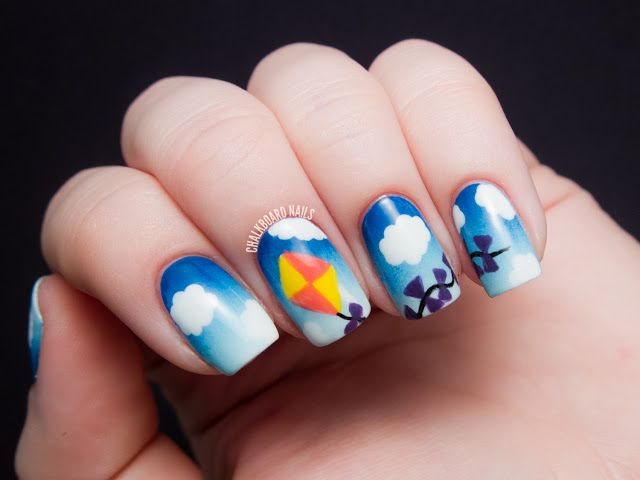 Let\'s Go Fly a Kite! | Pinterest | Chalkboard nails, Blue ombre and ...