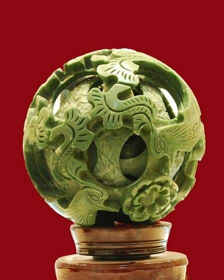 Chinese happy family ball jade happpy xi