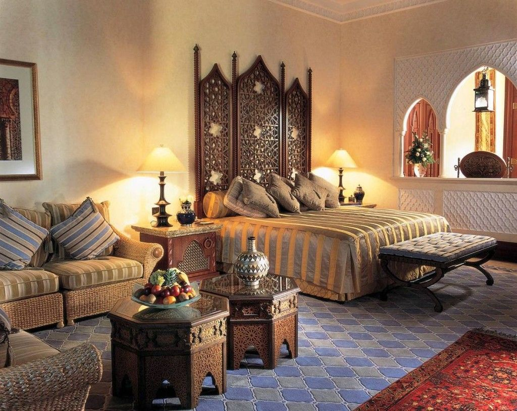 India A Vibrant Culture A Rajasthan Inspired Bedroom With Ornate Jaali Or Latticework