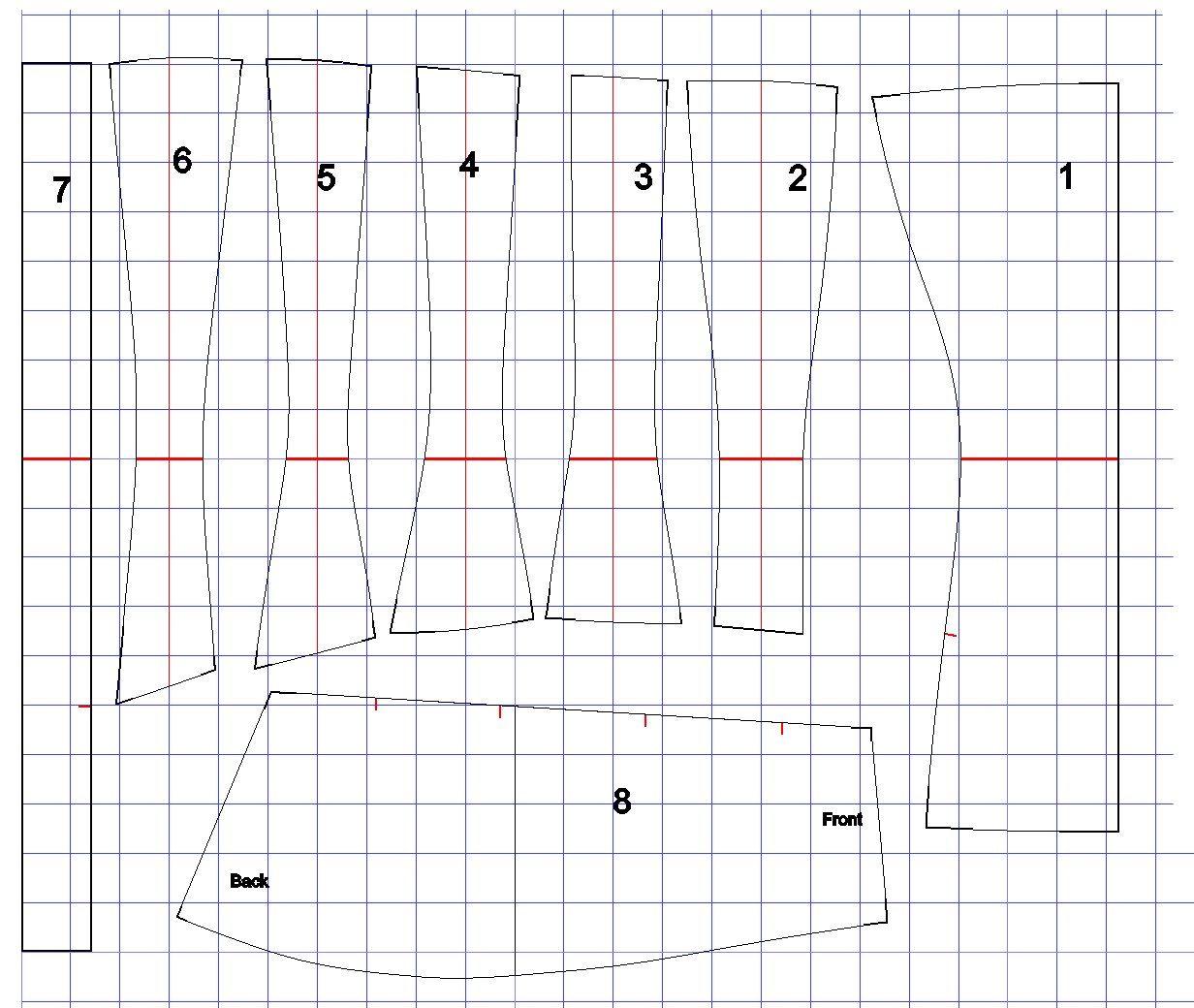 1910+corset+pattern+to+share.jpg (1232×1040) | corset | Pinterest