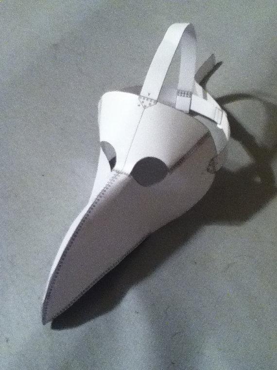 Plague Doctor Mask Pattern | Pest Arzt Maske, Masken und Basteln und ...