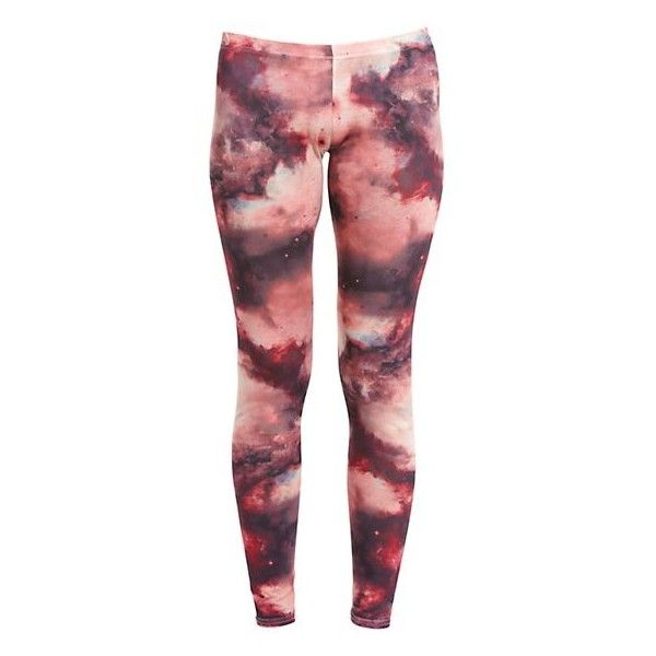 Club L Pink Galaxy Leggings ❤ liked on Polyvore