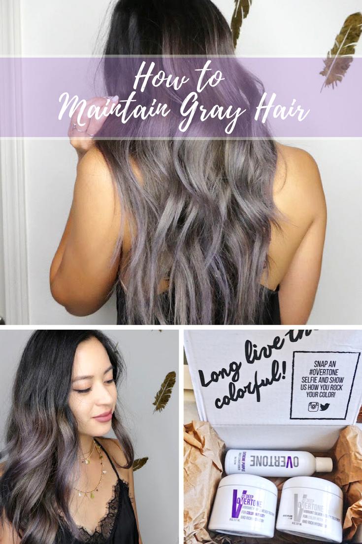 How To Maintain Grey Hair Overtone Review Silver Hair Balayage Hair Black Gray Ombre Hair Hair Inspiration Color Granny Hair Hair