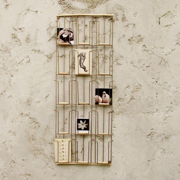 Porte Carte Mural Metal Et Bois H97x31cm Porte Carte Postale