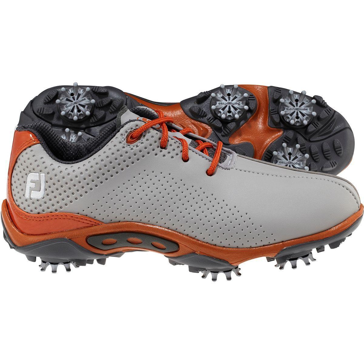 Footjoy juniors dna golf shoes greyorange fj45069