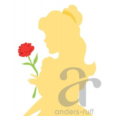 Fairy Tale Beauty Silhouette Poster 18 Quot X 24 Quot Instant