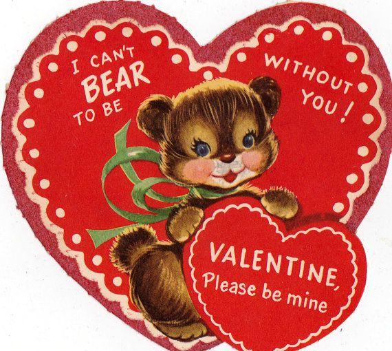 Vintage Children S Classroom Valentines Day Card 061 Vintage Valentine Cards Vintage Valentines Retro Valentines