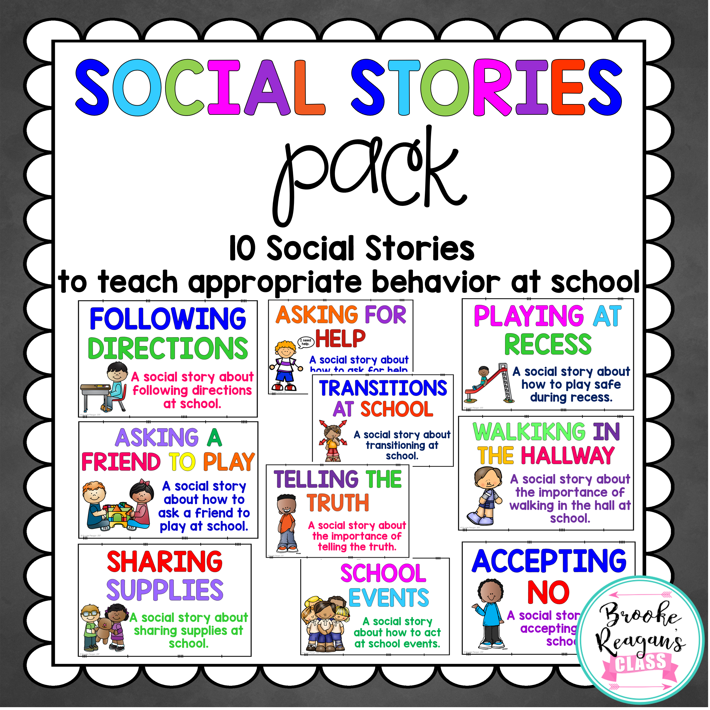 Social Stories Volume 1 12 Social Stories Teaching