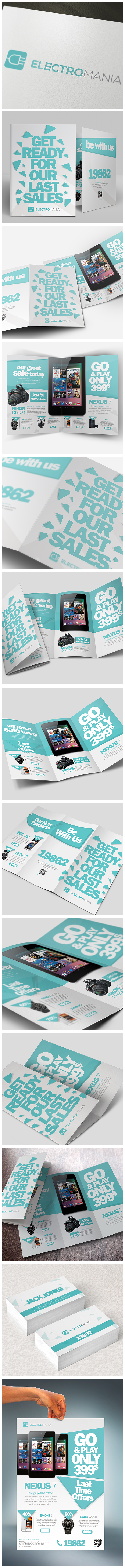 Brochures Pack A4 + Trifold + Flyer + Card by Unicogfx, via Behance