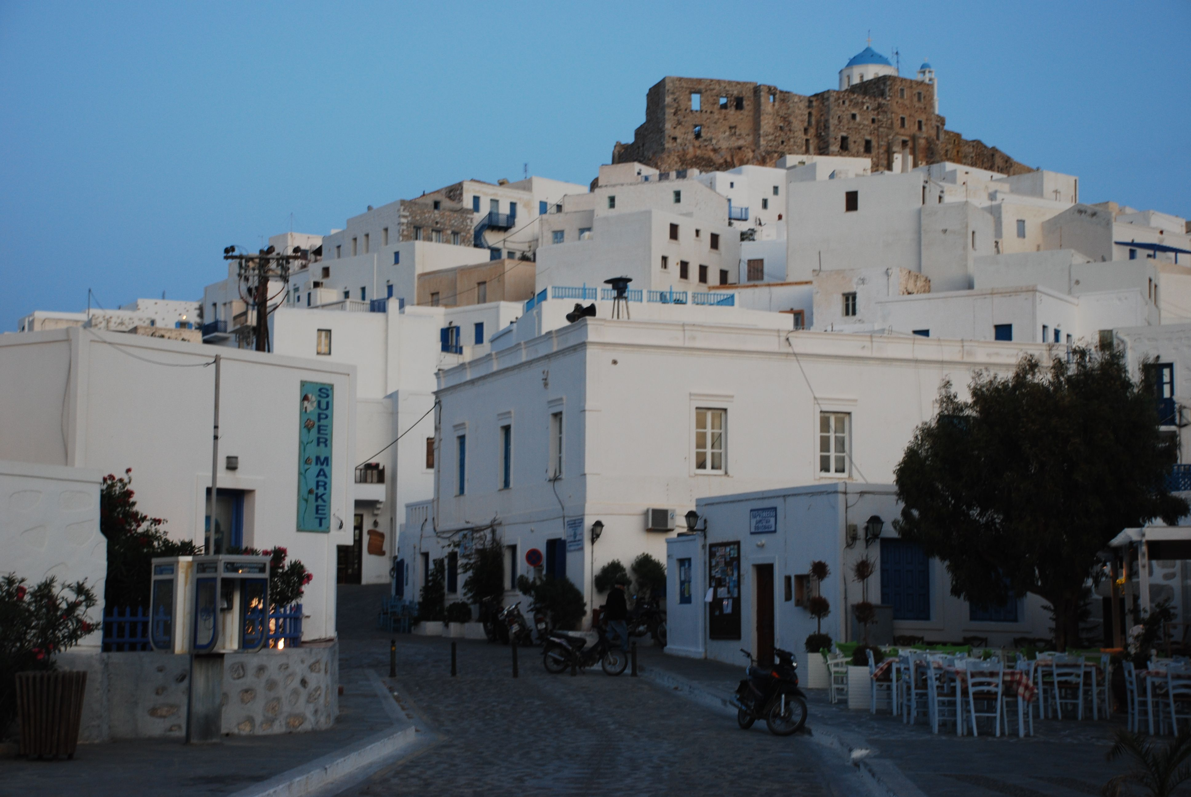 Visiting the town center in Astipalea, Greece Greek