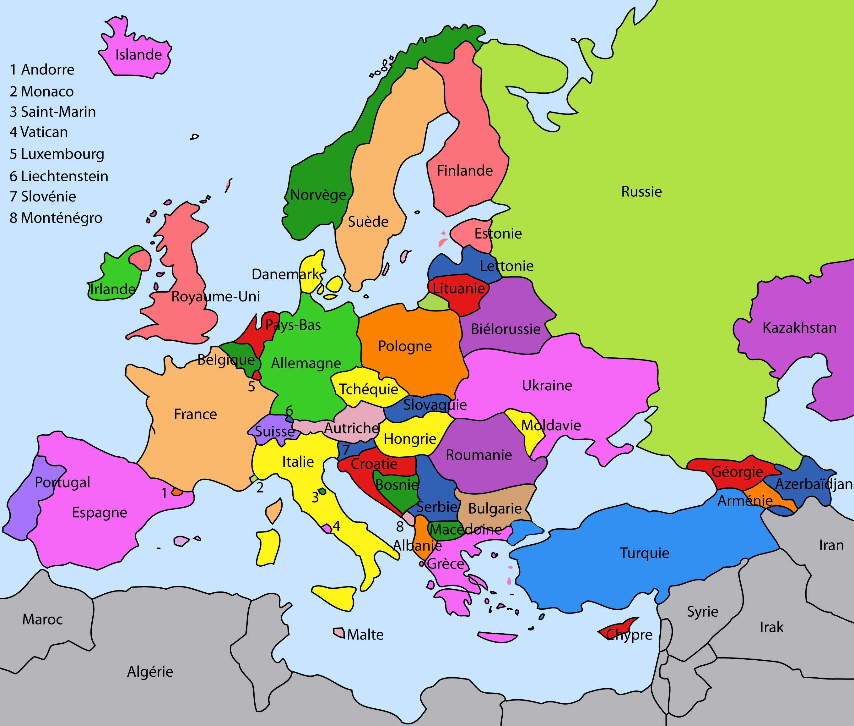Carte Europe Ce1.Carte Europe Maps Carte Europe Pays Carte Europe Et