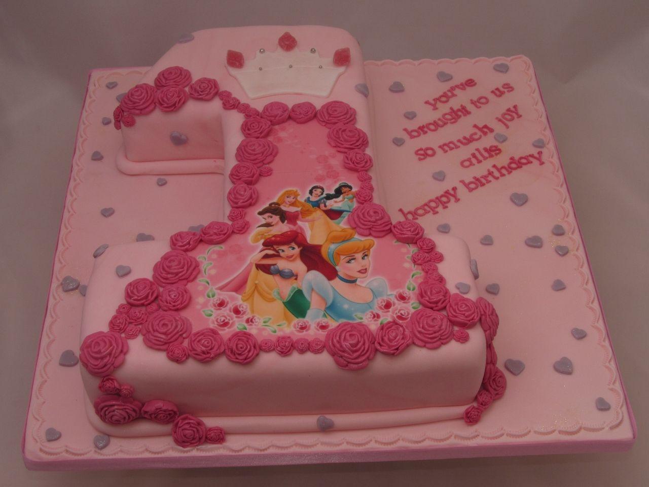 DIsney Princesses 1st Birthday Cake The Way cakepinscom For my