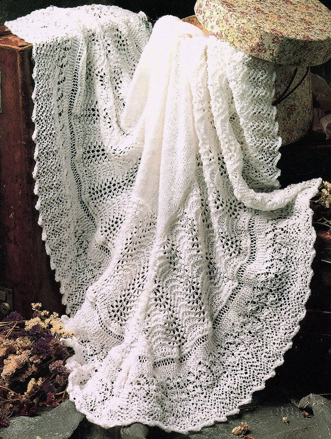 Lacy Heirloom Blanket, Knitting Pattern. PDF Instant Download ...