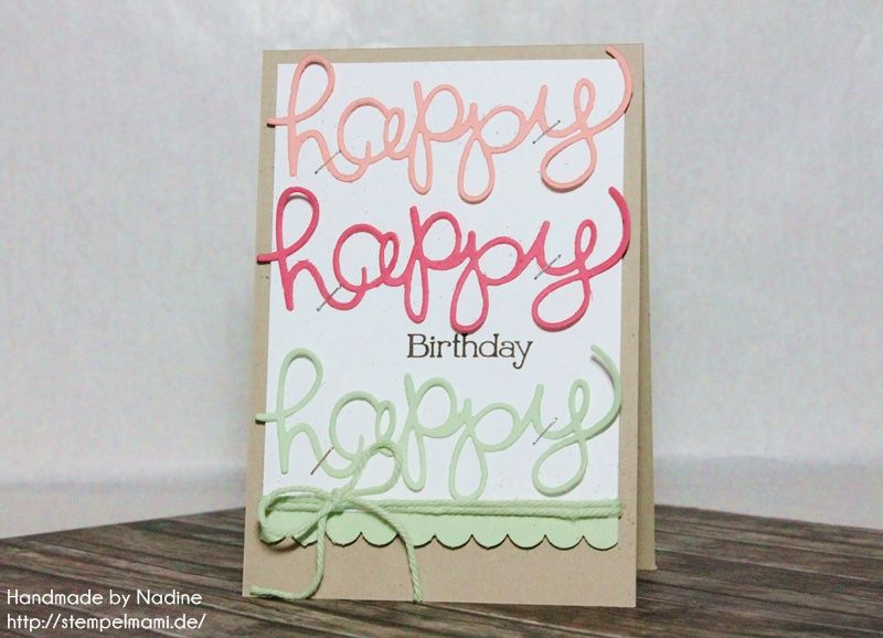 Stampin Up Geburtstagskarte Birthday Card Karte Thinlits Formen