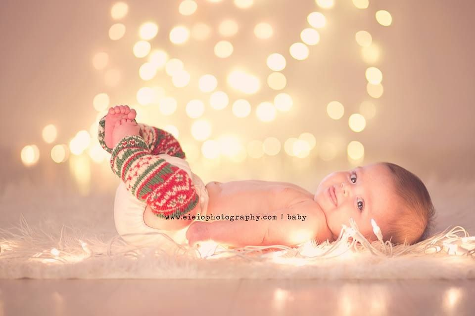 Christmas lights! Perfect holiday baby photos!