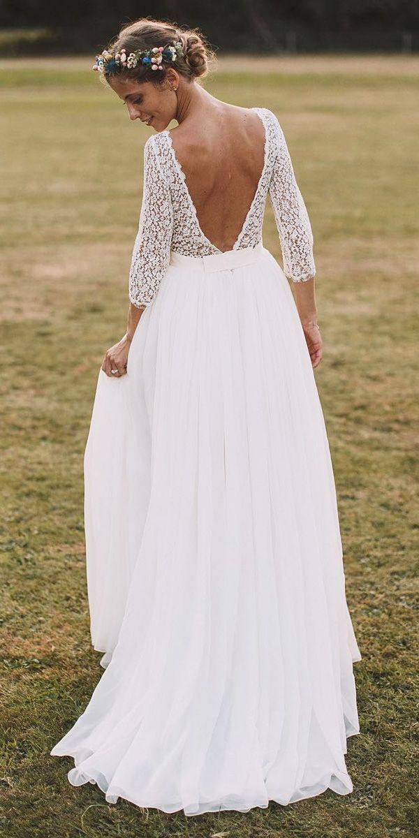 24 Lace Boho Wedding Dresses To Inspire You #knittinginspiration