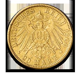 Freie Hansestadt Hamburg, 20 Mark, 7.16g Gold, 1875-1913   goldankauf-haeger.de
