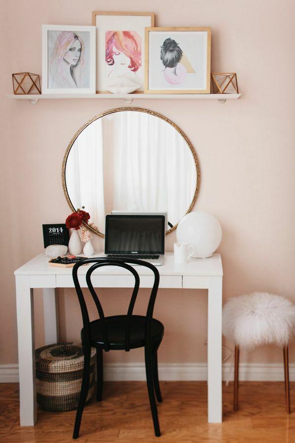schminktisch designs f r die eigene feminine ecke im zimmer interior schminktisch. Black Bedroom Furniture Sets. Home Design Ideas